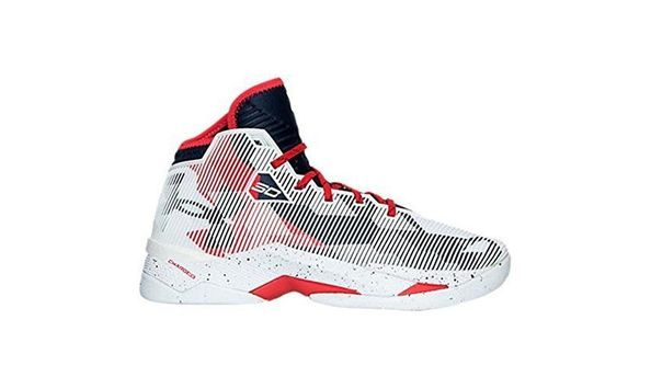 steph curry red white and blue shoes