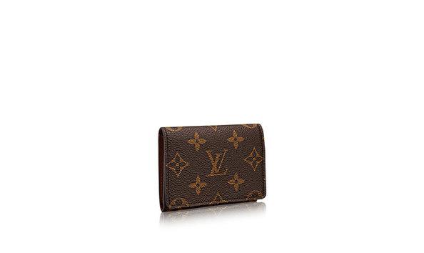 Big Image Louis Vuitton Enveloppe Carte De Visite Monogram Small Leather Goods M63801 Pm2 Front View