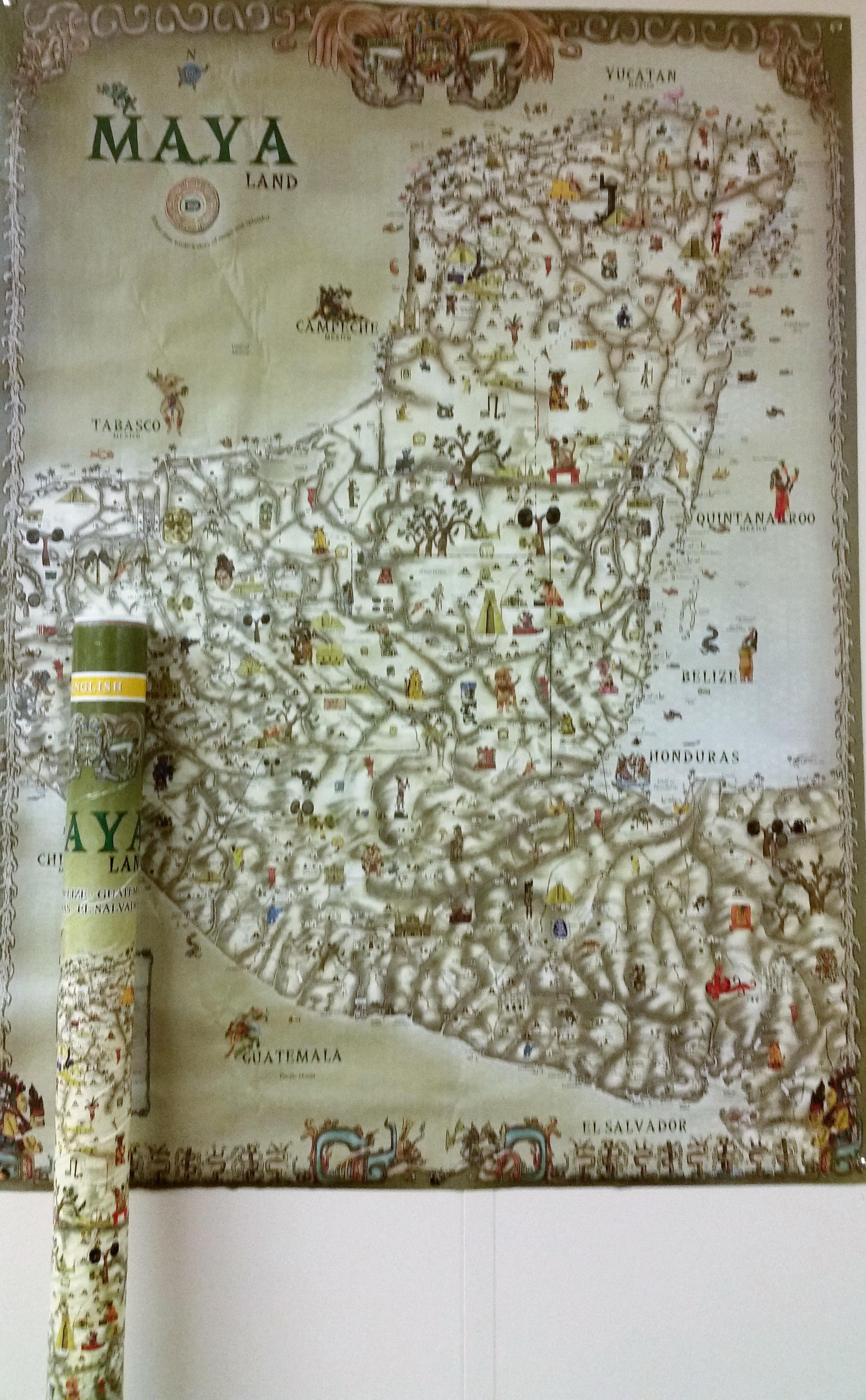 Maya World Map.Maya Land Map