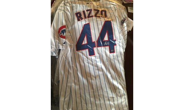 new style 0f2e2 4e301 Anthony Rizzo autographed MLB Game World Series jersey