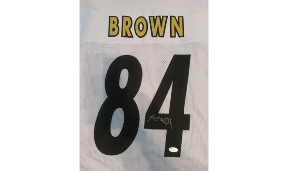 the latest aef74 495bc Antonio Brown - Signed Pittsburgh Steeler White Jersey