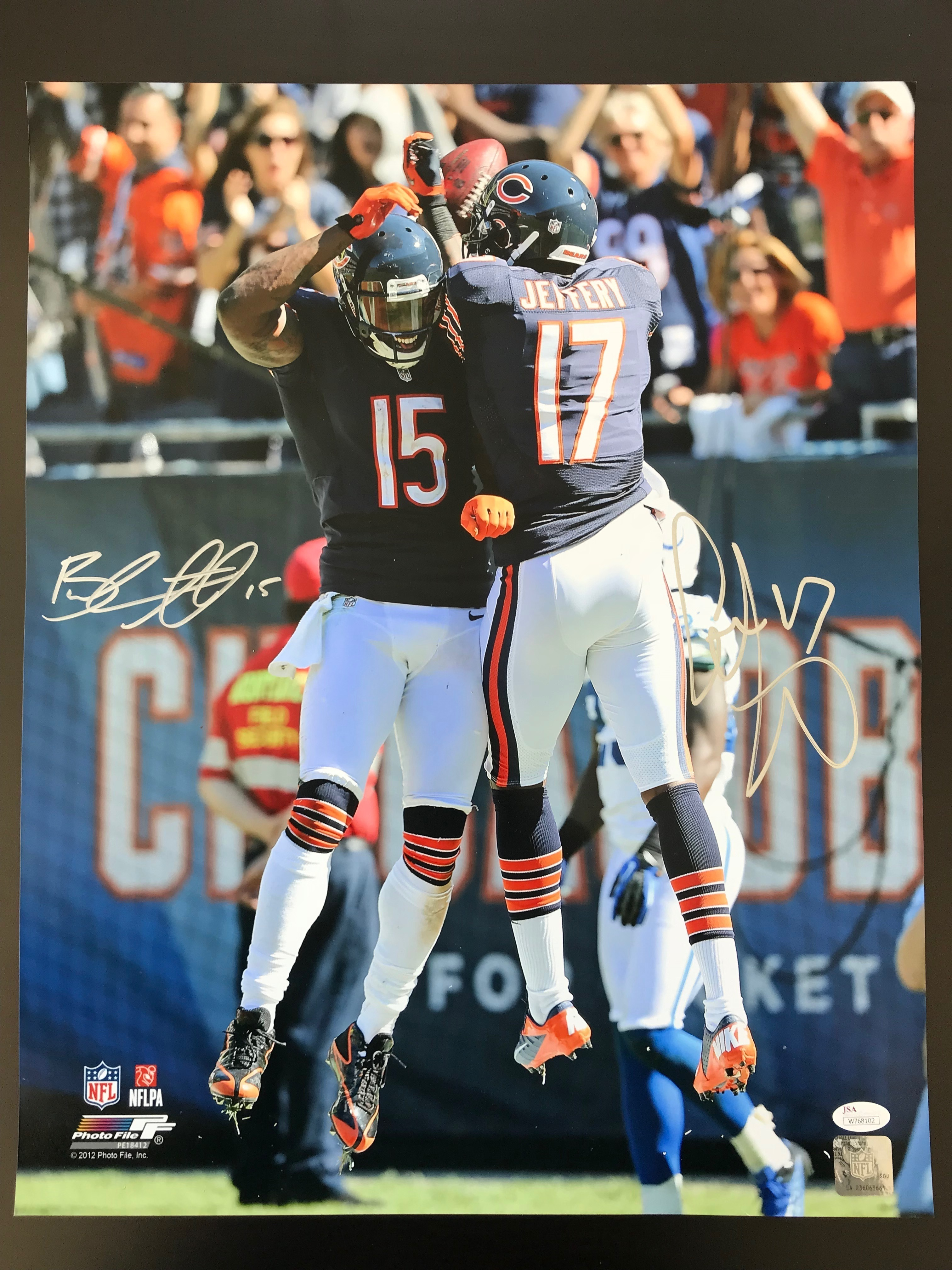 best cheap f5cb5 3cfbe Alshon Jeffery and Brandon Marshall Dual Signed 16x20