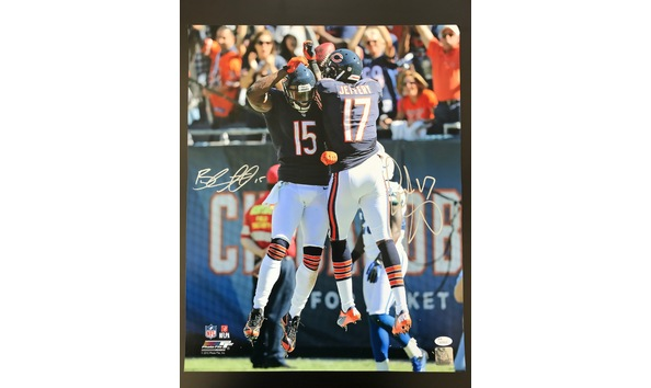 best cheap 4d74d 7a507 Alshon Jeffery and Brandon Marshall Dual Signed 16x20
