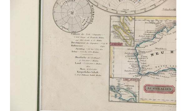 German World Map Circa 1850 1860