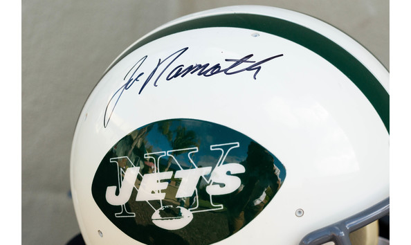 purchase cheap c66f3 62491 Joe Namath Autographed Helmet