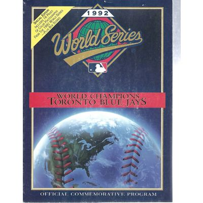 Image 1992 world series program