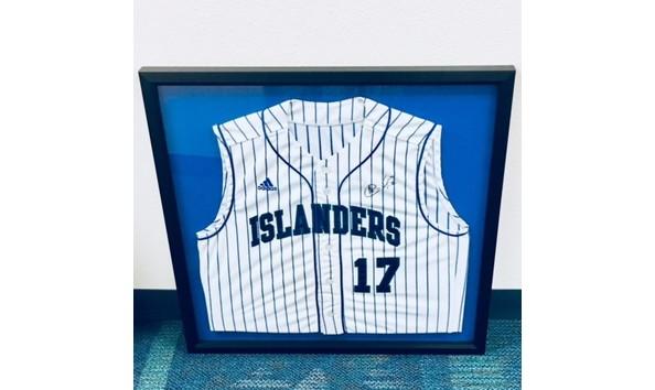 Aaron Hernandez Autographed Islander Baseball Jersey 7f2004fdd