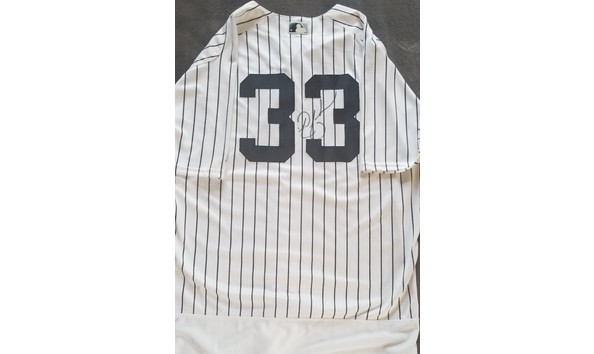 low priced 6bee1 42f1c Nick Swisher Autographed Yankees MLB Jersey
