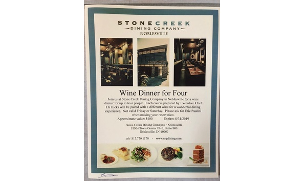 Table 17: Stone Creek Dining - Wine Pairing Dinner for 4