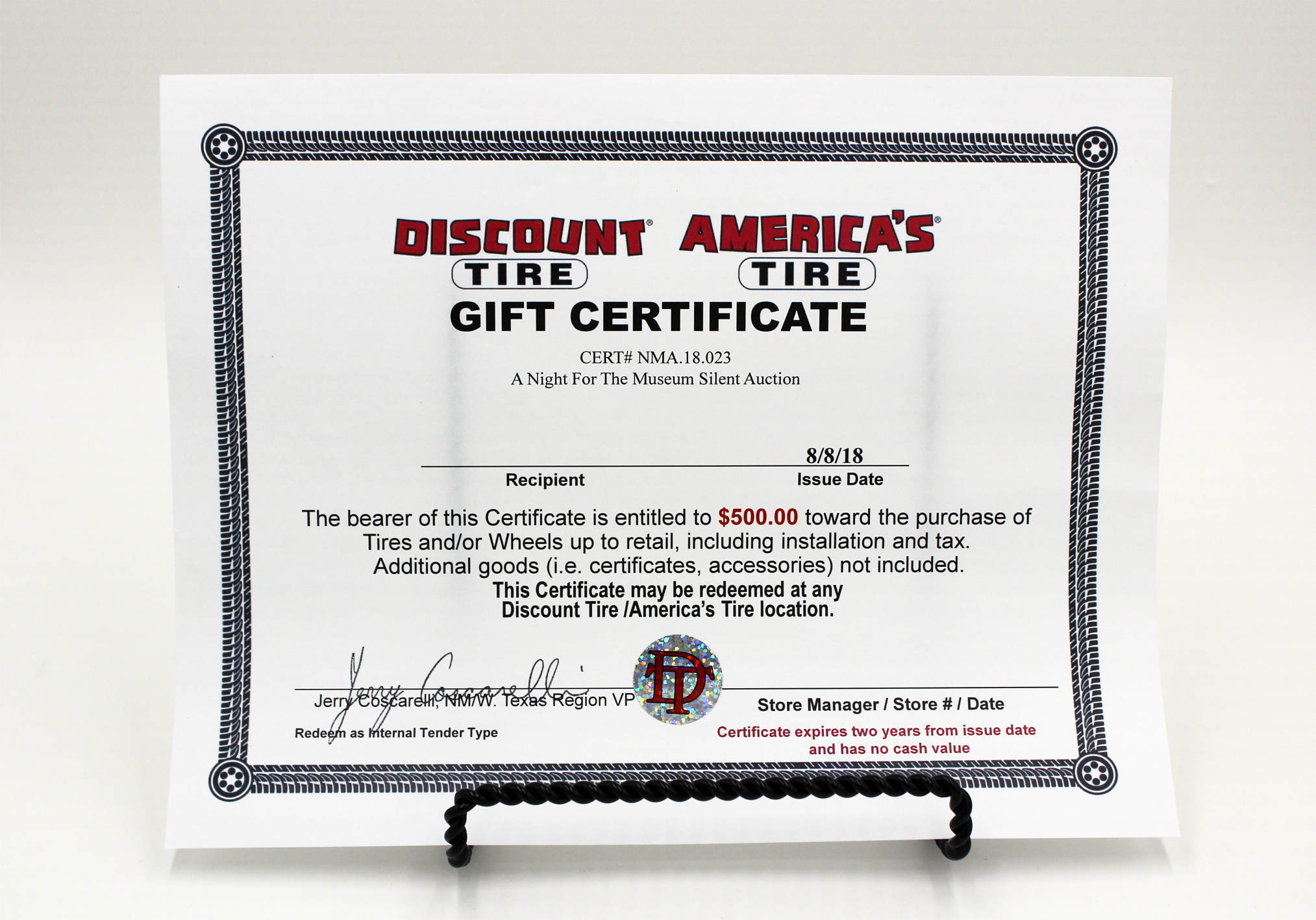 Discount Tire Gift Card $500