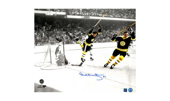 1717eef0c Framed Bobby Orr Signed Boston Bruins Color Effects Diving Goal 20x24 Photo  ( Great North Road America Auth)
