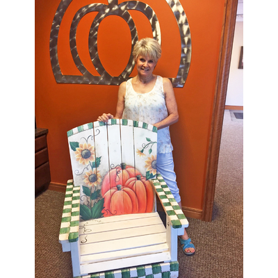 Image artist  cindy villa with chair