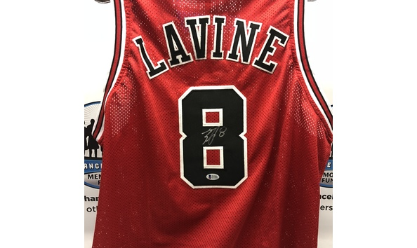 reputable site f04bd d54ec Zach LaVine Signed Chicago Bulls Jersey