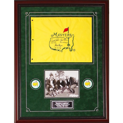Arnold Palmer, Jack Nicklaus & Gary Player Masters Flag