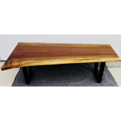 Exquisite Walnut Live Edge Coffee Table