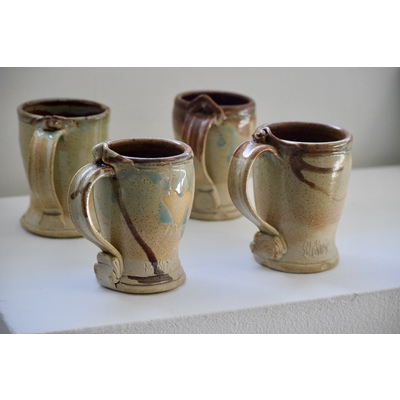 Handmade Set of Ceramic Mugs by Ash Kyrie