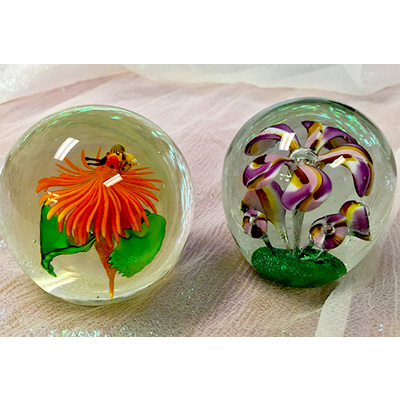 Vintage art glass paperweights