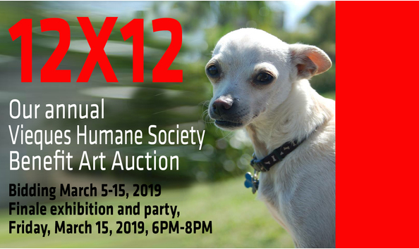 2019 12X12 Vieques Humane Society & Animal Rescue Art Auction
