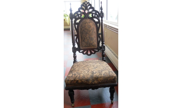 - Antique Gothic Revival Youth Chair