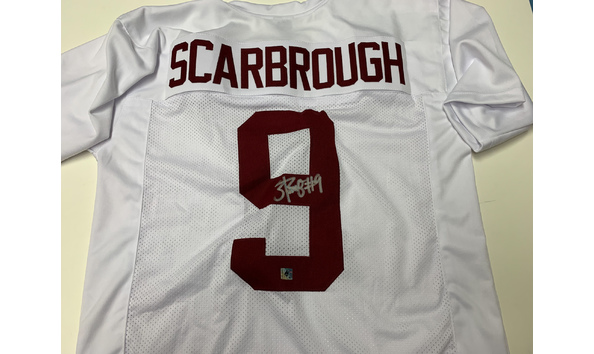 official photos 94907 32bb8 Bo Scarbrough Autographed Jersey