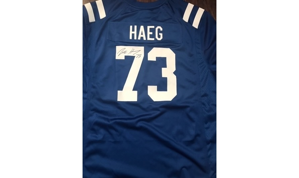 info for 053f5 180e0 Autographed Joe Haeg Colts Jersey