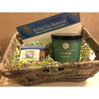 Massage Gift Certificate and Candle