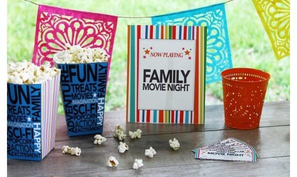 Big image backyard movie night