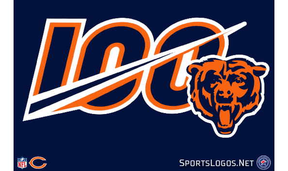 Big image chicago bears 100th anniversary logo 2019 nfl