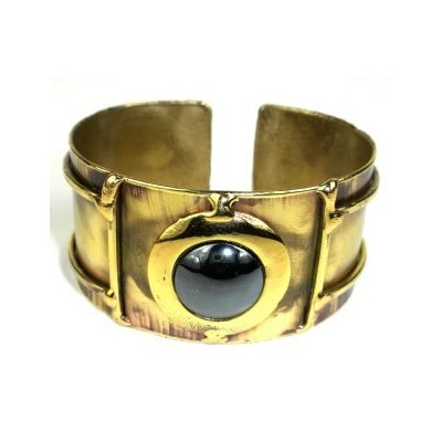 Black Onxy Stone Cuff Bracelet