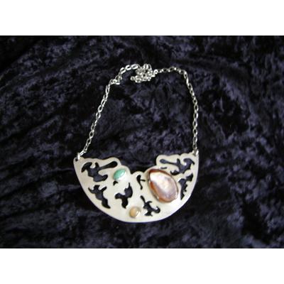 Silver Half-Moon Necklace