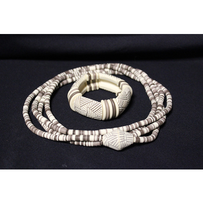 Faux Ivory Necklace and Bangle
