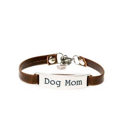 Dog Mom Leather Bracelet