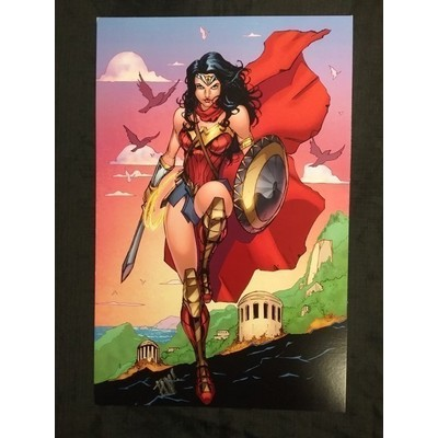 Original Print 'Wonder Woman' Signed by Published Artist edward Kraatz