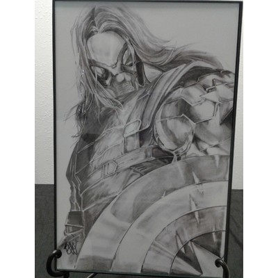 Original Print 'Winter Soldier' Signed by Published Artist edward Kraatz