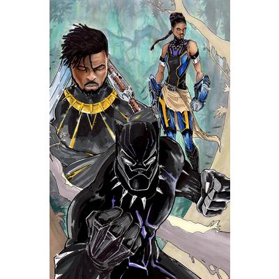 Original Print 'Black Panther' Signed by Published Artist edward Kraatz