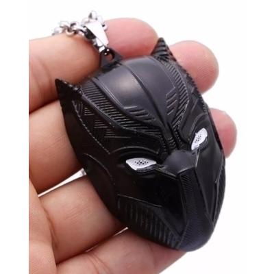 Black Panther Large Mask Pendant Necklace
