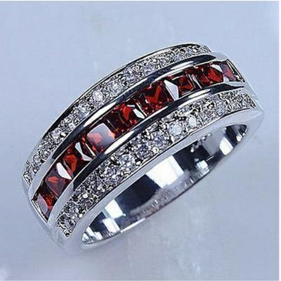 Men's Ruby & Sterling Silver Ring