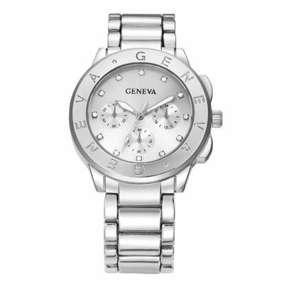 Ladies Bling Crystal Stainless Geneva Watch