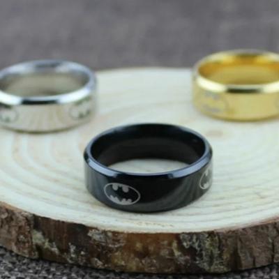 Men's Steel Batman Ring