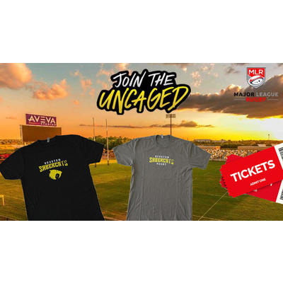 Houston Sabercats Rugby 4 Tickets and 2 T-shirts Package
