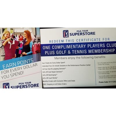 Players Club Membership from PGA Tour Superstore
