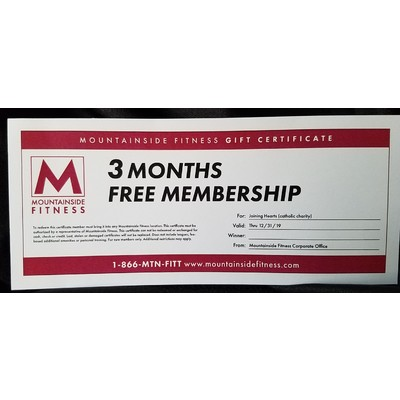 Mountainside Fitness  3-Month Membership