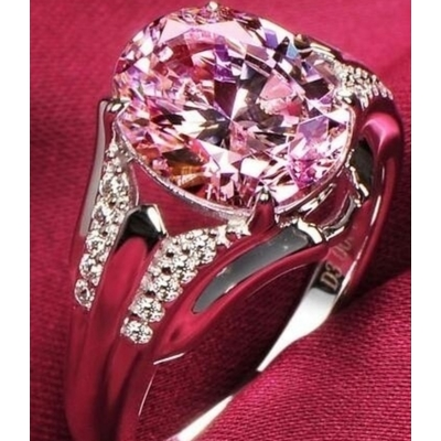 Sterling Silver & Pink Sapphire Ring
