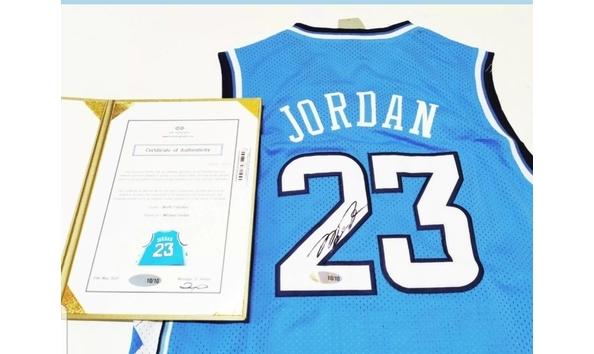 new arrival 02942 0184c Rare Michael Jordan North Carolina Autographed & Certified ...