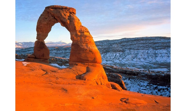 Big image arches national park at sunset