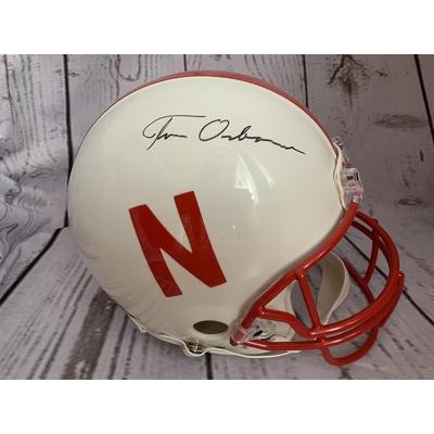 Tom Osborne Full Size Helmet Autographed