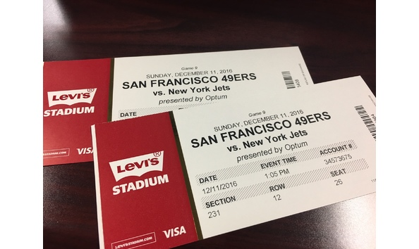 2 Tickets to NFL SF 49ers vs NY Jets on 1211