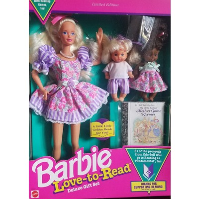 Vintage Love-to-Read Barbie Deluxe Gift Set