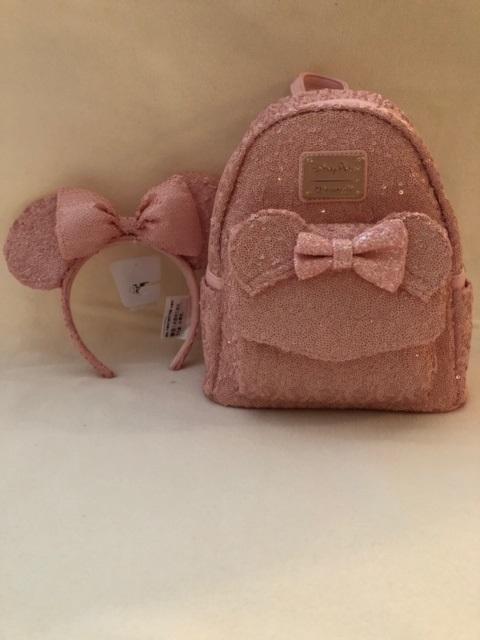 Pink sparkle backpack n ears 01