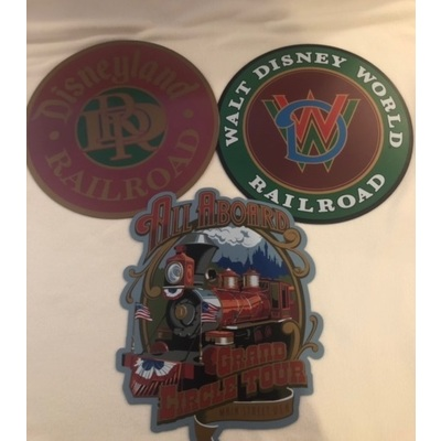 Image disney trains metal signs